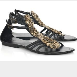 Antik Batik sequin beaded sandal size 39